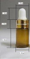 Lots of 10 pcs 3ml ESSENTIAL OIL BOTTLE Glass eye dropper bottle Free Shipping