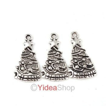 Wholesale - 120pcs Hot Sale Alloy Christmas Tree Pendants Have in Stock Fit Gift Necklaces DIY 140714