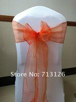 free shipping orange chair sash for wedding