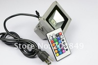 factory wholesale  RGB led flood light 10W floodlight, led flood projector light ,10w rgb high power led+free shipment