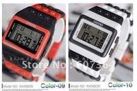 Colorful Shhors Watch Fashion Digital Night Light Watch Jelly LED Wristwatch+10 colors 50pcs/lot EMS free shipping