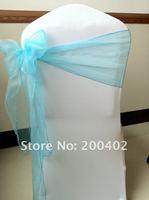 turquoise  organza  sash/chair sash/chair bow