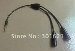 Stereo Audio Headphone Jack spliter 3.5mm adaptor cable(China (Mainland))
