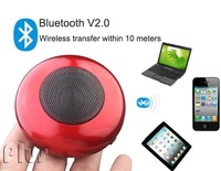 2pcs/ lot, Free shipping Wireless Portable bluetooth Mini speaker for Iphone 4 / Laptop, support TF card