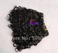 Tight Curly Virgin Malaysian Curly Human Hair Extension naturla color hair weft