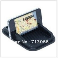 Free shipping Car rubber non-slip mat for mobile phone for iphone /GPS/ content box /black