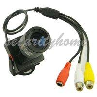 Mini 1/3 CMOS HD 600TVL Security 3.5-8mm Audio Video Color CCTV Camera