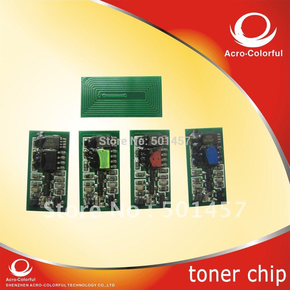 Universal Color Toner Reset smart Chip refilled for Ricoh AP3800 laser printer/Cartridge 885372K/885375C/885374M/885373Y(China (Mainland))