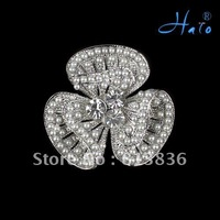 P168-384 3PC/Lot Pearl Butterfly Brooch Metal Alloy Rhinestone Imitation Diaomond Ladies' Crystal Fashion Wedding Supplies