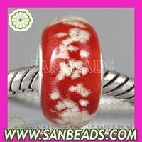 Free Shipping! 10pcs/lot European fluorescent glow dark glass snowflakes charm Beads for European christmas bracelets