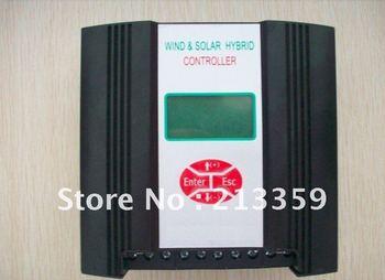 Free Shipping for 300w 24V wind&solar hybrid controller(300w wind+150w solar+LCD display)