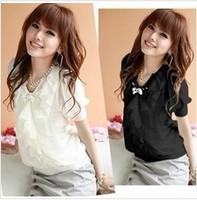 Hot sale women's slim lace basic shirt,tops for women chiffon blouse,shirts for woman,white clothing,Free shipping