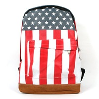 Ladies Womens Girls American US Flag Star-Spangled Banner Backpack Travel School Bag # L09103