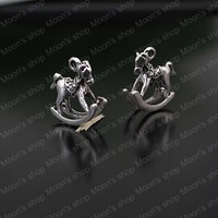 (23486)Fashion Jewelry Findings,Accessories,charm,pendant,Alloy Antique Silver 15*15MM Rocking horse 30PCS