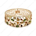 Fashion 18K Rose Gold Plated GP Limited colorful wide Bangle Swarov Crystal Bracelet   B010R1