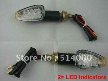 New Universal Motorcycle 2 x Motorcycle LED Turn Signal Indicators Lights light