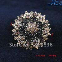 Free Shipping 3PCS/Lot Gift Pin Silver Heart Metal Alloy Rhinestone Girl Big Brooch Crystal Fashion Ornament P233-043
