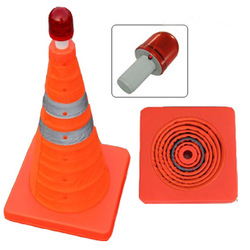51cm retractable traffic cone lift type traffic cone portable reflective warning triangles(China (Mainland))