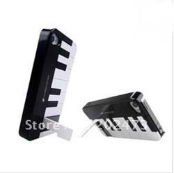 30pcs/lotNew arrival WARDMASTER Piano case for iphone 4s hard case for iphone 4s with stand support holder(China (Mainland))