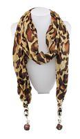 1pc Retail Leopard cotton pashmina shawl Apple Pendant Necklace Lady's scarf  wrap Free shipping SC037