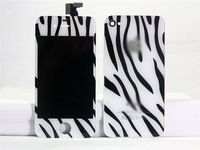 For iPhone 4 4G 4S Color LCD display Screen Zebra Leopard Digitizer Back Cover Housing replacement part free shipping