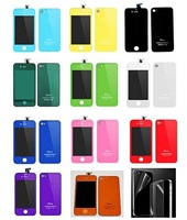 Wholesale For iPhone 4 4G 4S Color LCD Screen Digitizer Back Cover Housing replacement part CDMA GSM free shipping