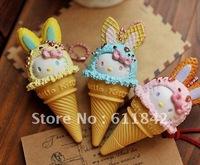 free shipping  Fashion Korea Stationery cartoon ball pen Hello kitty ice cream ballpoint pen kawaii lovely gift