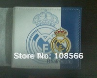 real madrid  color printing PU wallet,  real madrid popular white purse