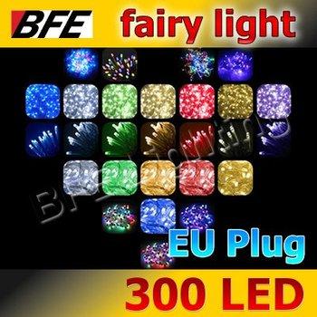 Holiday Sale 1pcs/Lot 32m 300 LED 4 Colors Fairy Lights String For Christmas Tree Decoration Wedding Party EU Plug