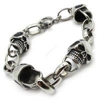 Bracelet For Men Rock PUNK Stainless Steel New Arrival Fashion Links Chain Skull Braclet Bangle Free Shipping