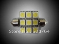 20 pcs Free Shipping White 12 volt 9 SMD/LED 41mm Festoon Nav. Light Bulb Festoon Dome Car SMD White