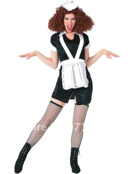 Nicely fantasy Sexy French maid costume,four pieces ( clothes,apron,hat,g string) included