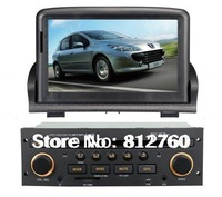 New peugeot 307 Car DVD Player with GPS/Steering wheel control/Bluetooth/TV/iPod RDS Free Shipping