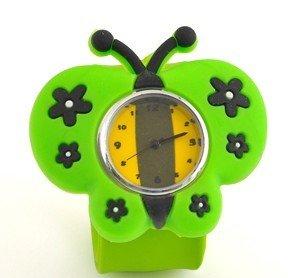 60pcs/много мода дети мультфильм пощечину часы дизайн бабочка пощечину часы дети силиконовые пощечину часы