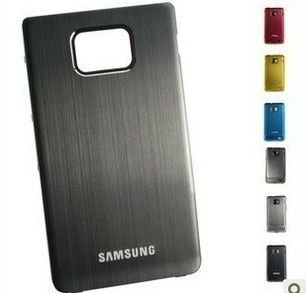 TOP Quality Metal Aluminum Replacement Back Battery Cover Door Housing Case For Samsung GALAXY S2 I9100  Free shipping