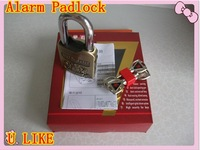 free shipment  alarm lock for door Plating green bronze  alarm padlock