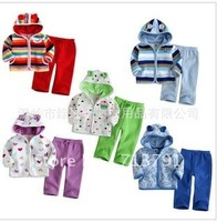 5 Design Kid's Suits,Outer Coat +Pants 3sets /lot girls boys two-pieces clothing sets