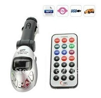 Car MP3 USB/SD/MMC/Player With FM Modulator & Remote Control - Black and Silver