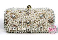 Free Shipping Dinner pearl rhinestone wedding handbag