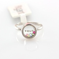 Wholesale Fashion 18K White Gold Plated Colorful Crystal Round Shaped Fashion Ring Free Shipping 40% Off for 6Pcs Order