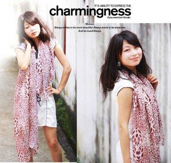 Wild leopard print silk scarf cape chiffon large cape personalized scarf 2012