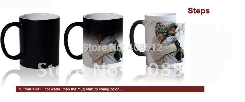 DIY Photo Magic Color Changing Coffee Mug printing with custom photo(China (Mainland))