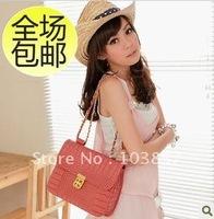 2012 new crocodile grain contracted edition joker portfolio oblique satchel portable female bag