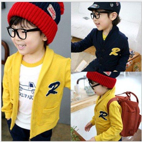 Wholesale 2012 New Design Fashion Autumn Baby boy / girl knitted cardigan coat kid's R cardigan 10pcs/lot Children's jacket(China (Mainland))