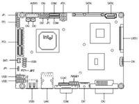 Low-power industrial motherboard/embedded/fanless motherboard
