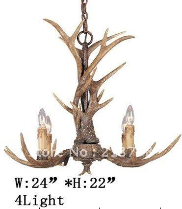 het gewei lamp kroonluchter slaapkamer antieke hars restaurant tafel ...