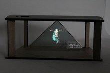 DIY 3D Holographic Projection Pyramid for ipad 2 ipad 3 NEW ipad Hatsune 3D MV Projector(China (Mainland))