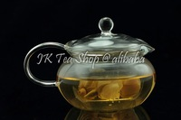 Borocilicate Round Shape Clear Glass Tea pot, with Glass Insert, 680ml
