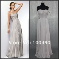 R0411 Free shipping sexy strapless designer beaded cocktail gown