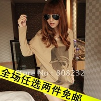 2012 Fashion Sexy cotton T-shirt woman primer shirt ,pullover,jumper